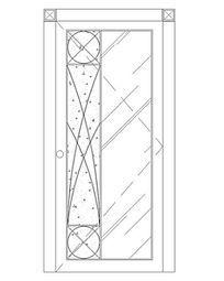 磨砂玻璃图案门
