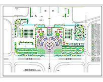 某火车站广场绿化平面图