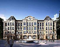 某特色办公楼体建筑模型 JPG