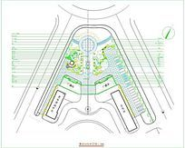 某政府广场绿化平面图-绿化