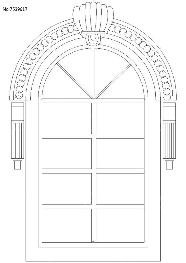 欧式石膏线条门图片