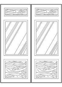 双开木门CAD图块
