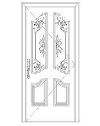 现代花纹门
