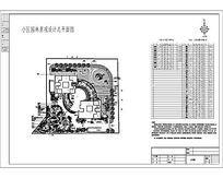 小区景观平面设计施工图