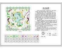 小庭园绿化平面图