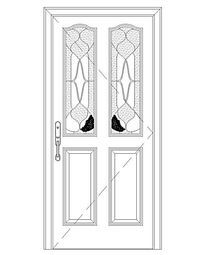 心形图案单扇门