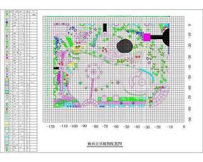 楠苑公园植物配置图 dwg