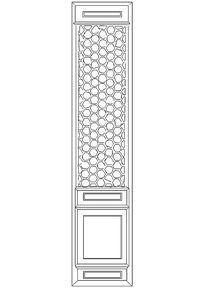 中式隔扇门CAD