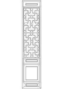 中式隔扇门CAD图块