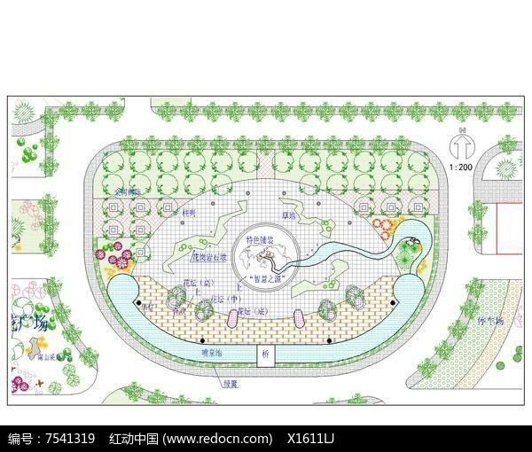 中心广场景观设计总平面图