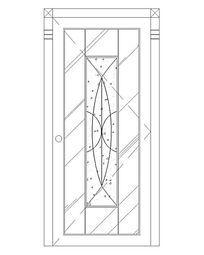 中心磨砂玻璃图案门
