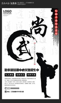 大气跆拳道海报设计