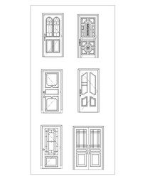 房间门CAD立面图