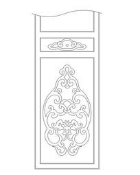 古典花纹隔扇门CAD