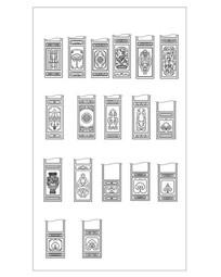 古典建筑隔扇门花纹样式CAD
