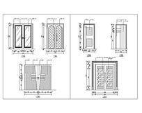 胡桃木和铝塑板材质门CAD图 dwg