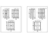胡桃木和榉木材质门CAD立面 dwg