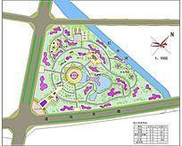 某中心绿地总体规划图 dwg