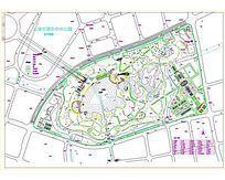 某中央公园规划总平面图