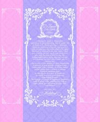 欧式粉紫色婚礼迎宾区背景图 PSD
