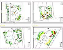 生肖广场绿化平面图
