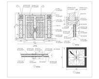实木雕花门CAD做法详图