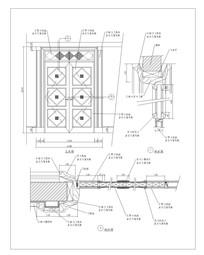 现代菱形图案双扇门CAD做法