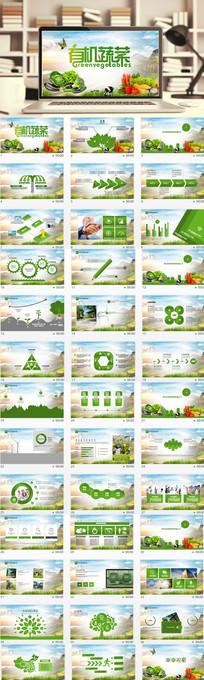 有机蔬菜农产品绿色食品PPT模板