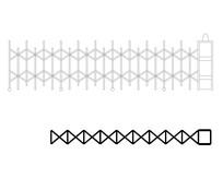 折叠推拉门CAD平立面图块