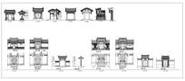 中式古典大门做法集合 dwg