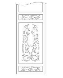 中式花纹图案隔扇门