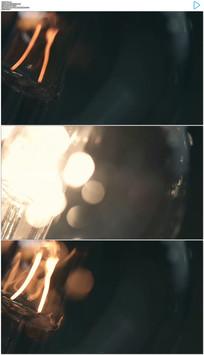 灯泡闪烁实拍视频素材