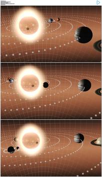 太阳系三维动画动态视频素材
