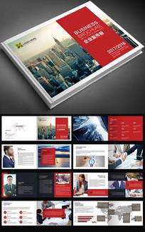 2017红色企业文化画册设计模板psd