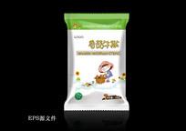 时尚卡通香菇牛排包装eps源文件