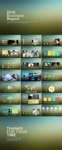 IOS风格商务PPT模板