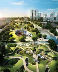 滨河城市绿地生态景观规划