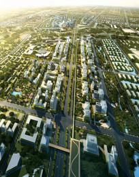 城市公路鸟瞰景观 JPG