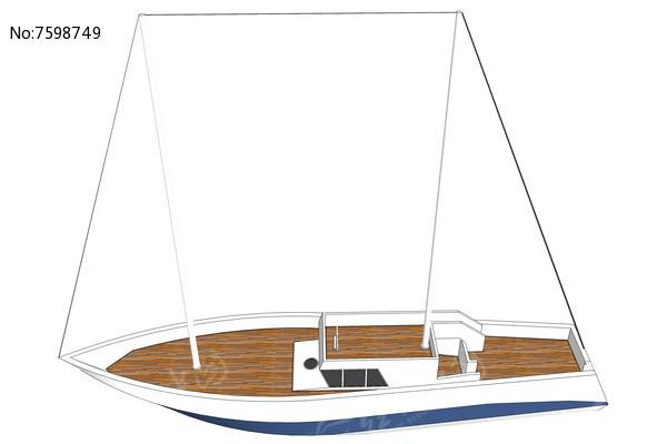 出海帆船模型SU图片