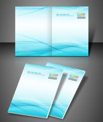 淡雅蓝色条纹企业文化封面
