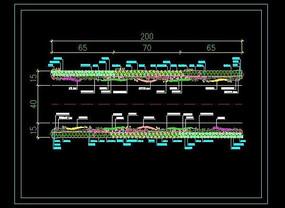 道路绿化标准段设计施工图纸