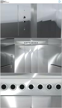 电梯门打开绿屏抠像视频素材