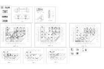 二层茶艺餐馆平面立面装修详图CAD
