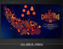 高端花朵圣诞节活动背景模板
