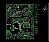 广场植物配置CAD