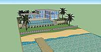 海边度假别墅住宅建筑