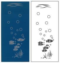 海底世界门图雕刻图案 CDR
