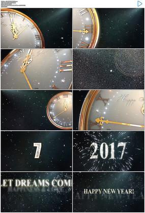 2017金色时钟光斑一分钟倒计时含音乐ae模板图片