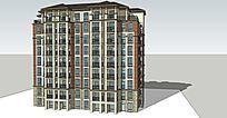坡顶小高层建筑模型