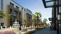 商业建筑滨水景观